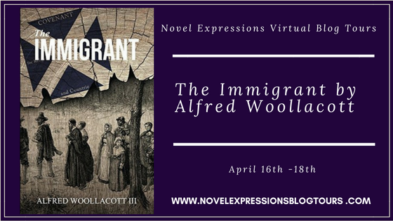 The Immigrantby Alfred Woollacott (1) Blog Tour Banner